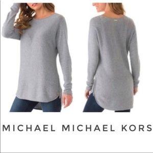 Michael Kors High Low Hem Side Zip Long Sweater 1X